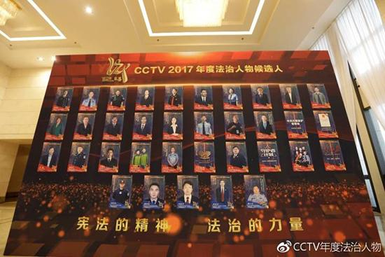 CCTV2017年度法治人物候选人照片墙